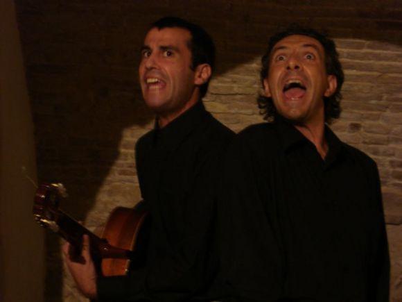 Fabio Marceddu con Antonello Murgia