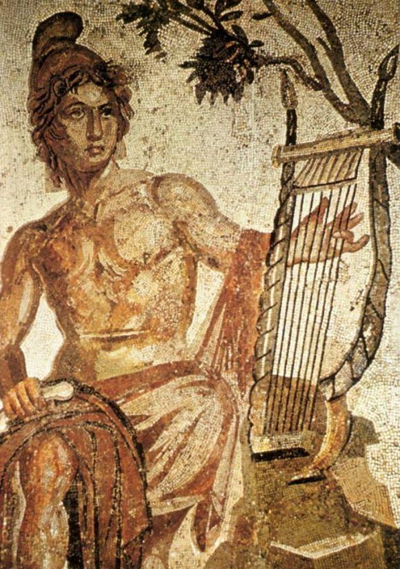 Mosaico di Orfeo rinvenuto nel campo limitrofo alla chiesa dell'Annunziata