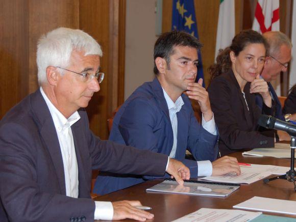 Raffaele Paci, Massimo Zedda e Barbara Cadeddu