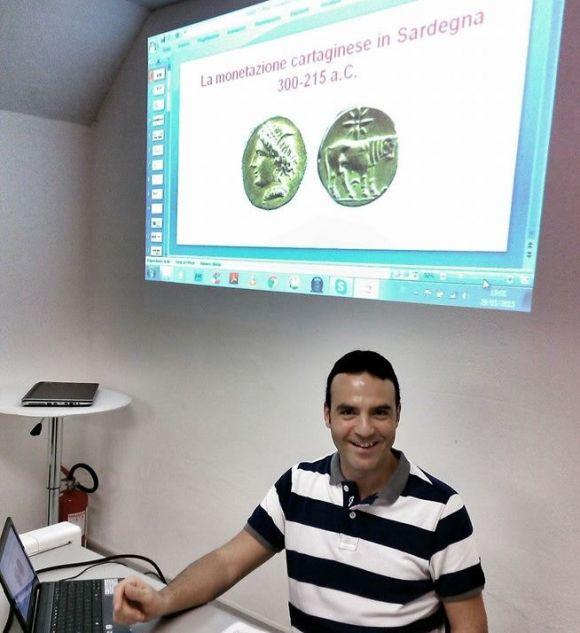 L'archeologo Marco Piga