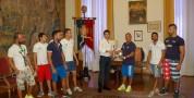 Il Sindaco Massimo Zedda ha ricevuto Maurizio Stecca e i pugili della Nazionale Maschile