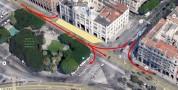 Chiuse al traffico tre corsie della strada difronte al Municipio in via Roma