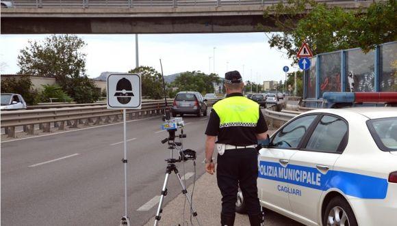 Cagliari - Postazione mobile autovelox