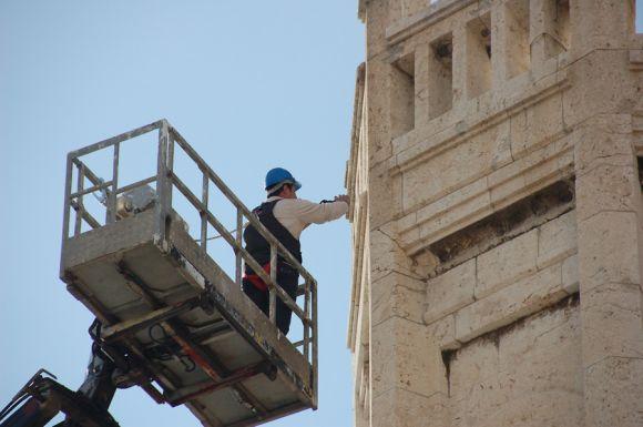 Lavori in corso nel Palazzo Civico