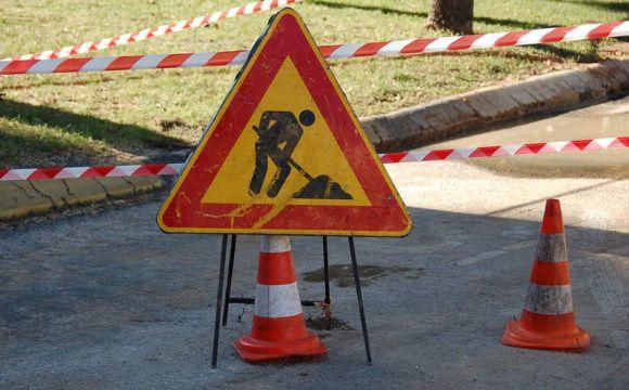 Foto d'archivio. Lavori stradali.
