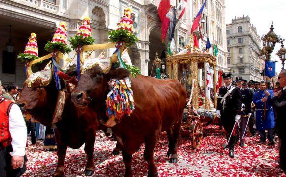 Foto d'archivio. Festa di Sant'Efisio.
