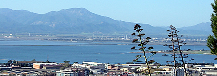 Panorama sulla Laguna di Santa Gilla