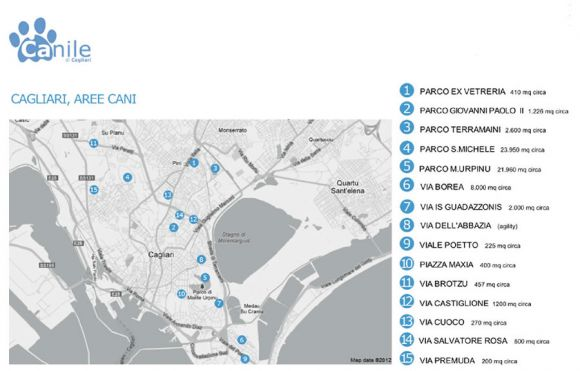 Le aree per i cani a Cagliari