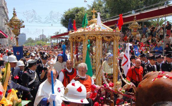 Festa di Sant'Efisio a Cagliari - il cocchio