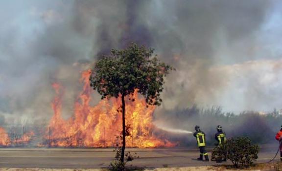Incendio a Cagliari - foto M. Lastretti